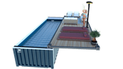 Piscine container terrasse mobile
